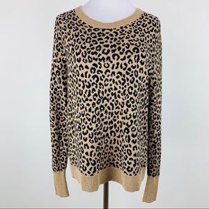 A New Day Animal Print Sweater Sz XLarge